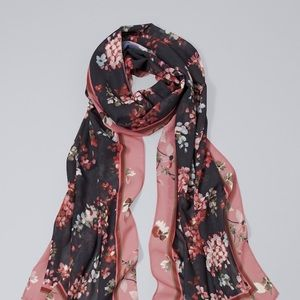 WHBM floral oblong scarf